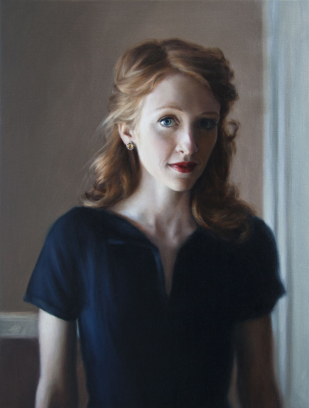 "Katie   21"" x 16""    Oil on Linen   SOLD"