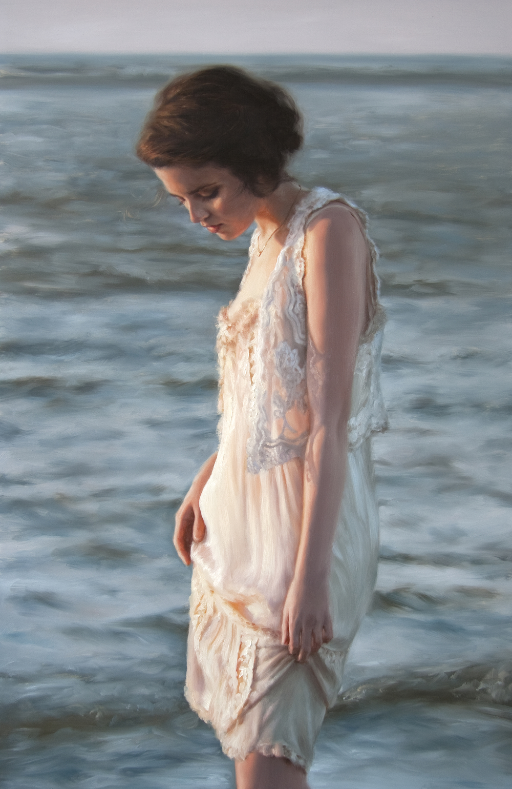 "Morning Solitude   32"" x 21""    Oil on Panel     AVAILABLE at Robert Lange Studios"