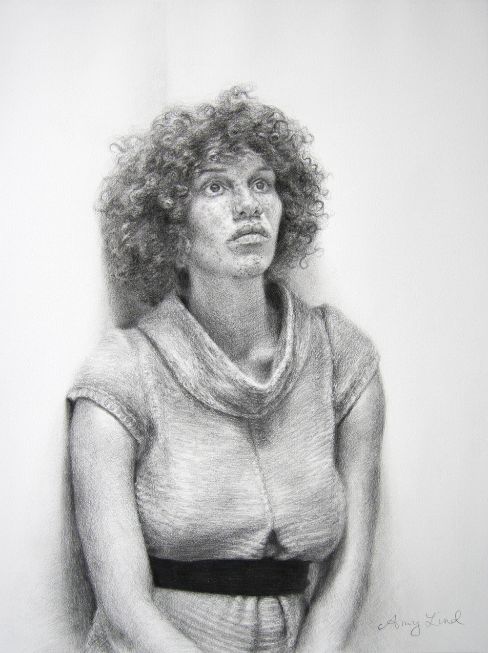 "Daydream   24"" x 18""   Graphite on Paper  SOLD"