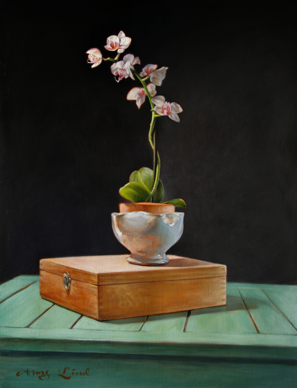 "Full Bloom   25"" x 19""   Oil on Linen   SOLD"