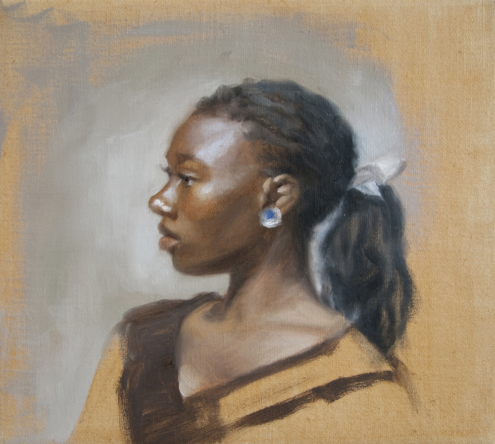 "Profile Study   9"" x 10""    Oil on Linen   SOLD"
