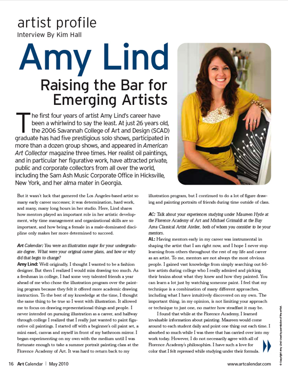 Art Calendar Business Magazine : Cover of art calendar magazine may — amy lind