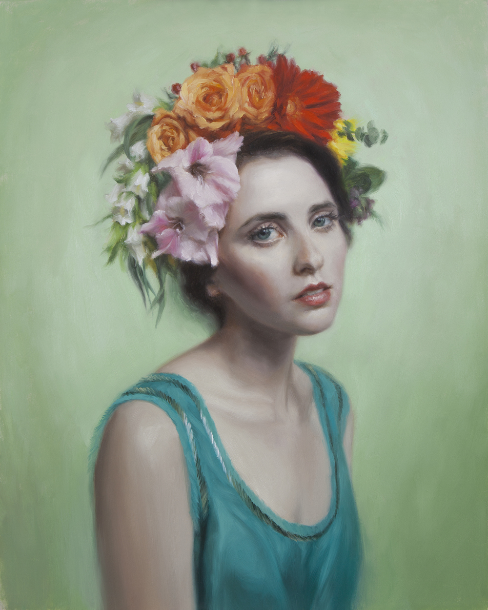 """Blossom   20"""" x 16""""  Oil on Panel     AVAILABLE at Robert Lange Studios"""