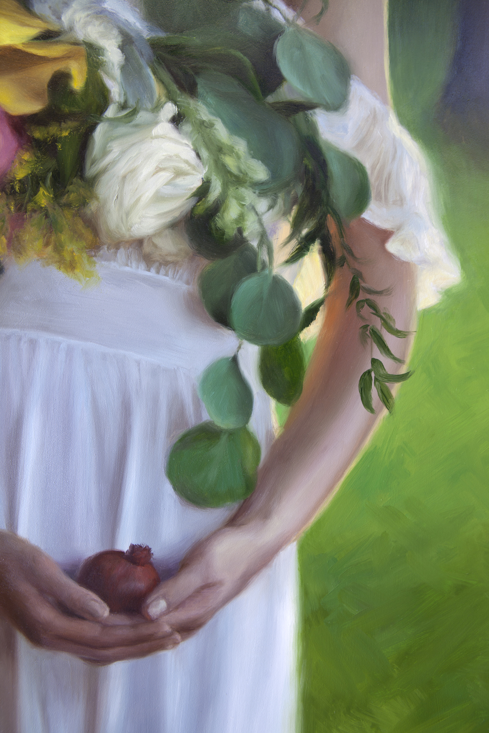 "DETAIL of  Bittersweet   45"" x 28.5""   Oil on Panel"