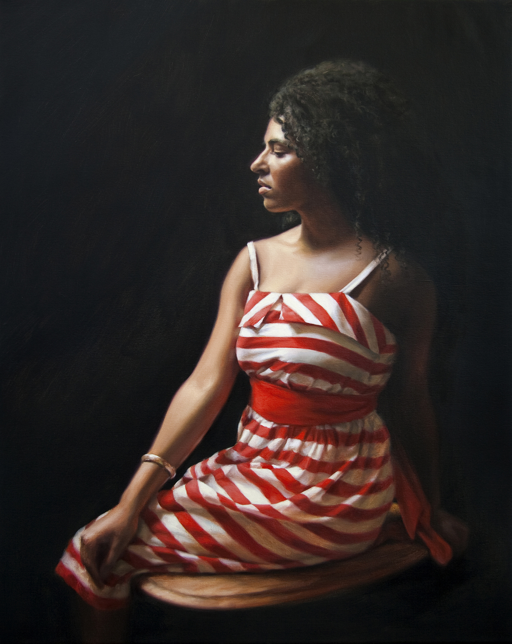 """Be Still"" Oil on Linen 30"" x 24"""