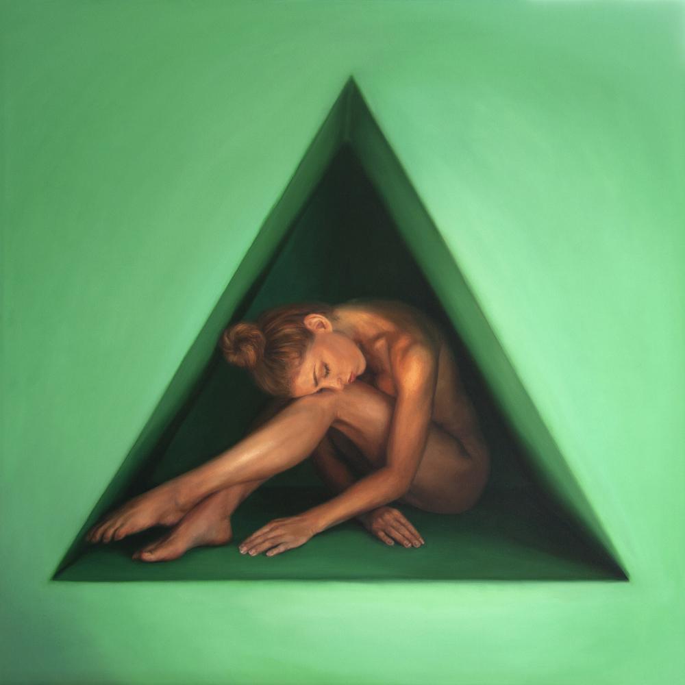 "Renewed Balance   32"" x 32""  Oil on panel    AVAILABLE through Robert Lange Studios"