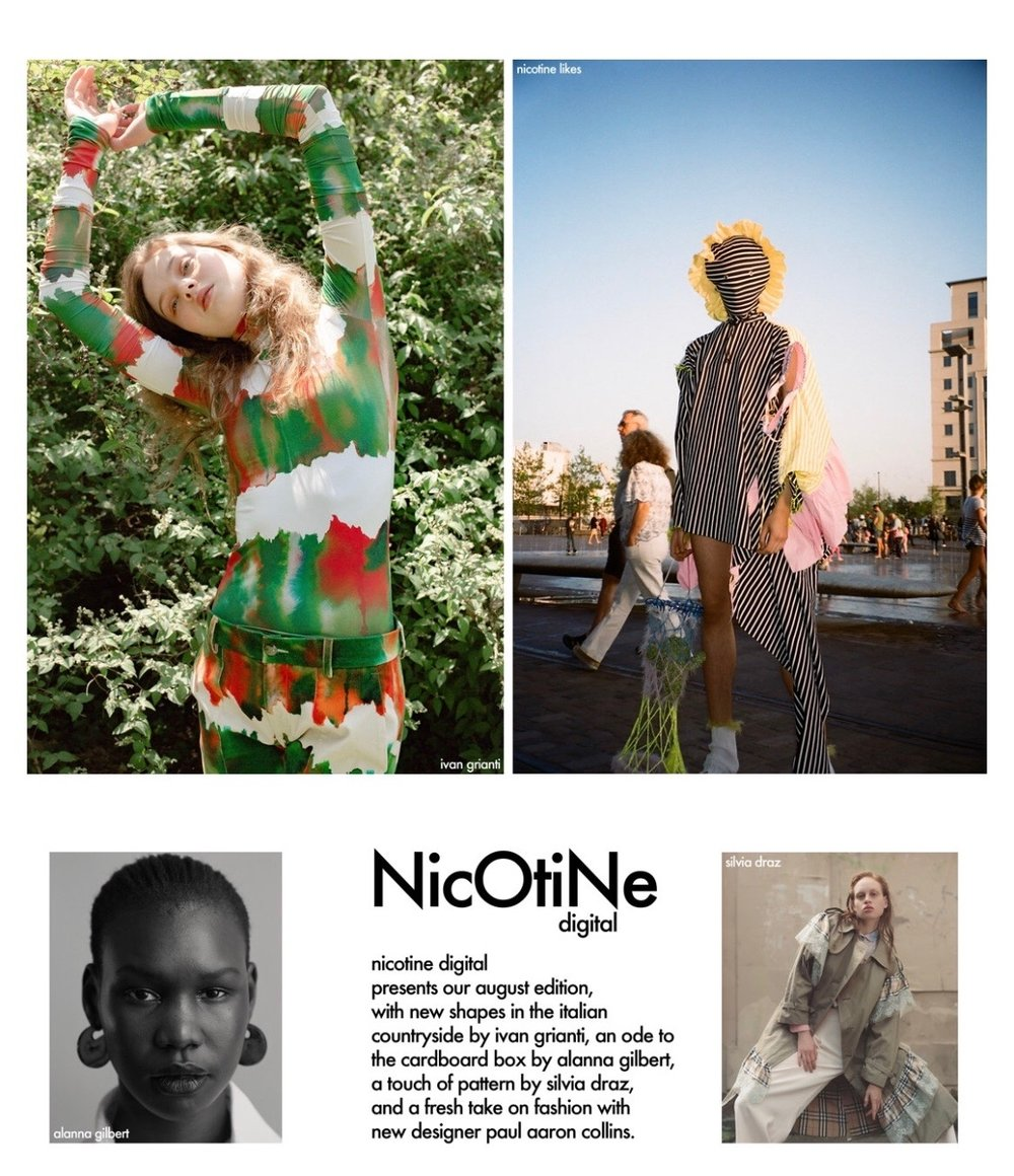 Nicotine Magazine - Featured for a London based shoot with designer Paul Aaron