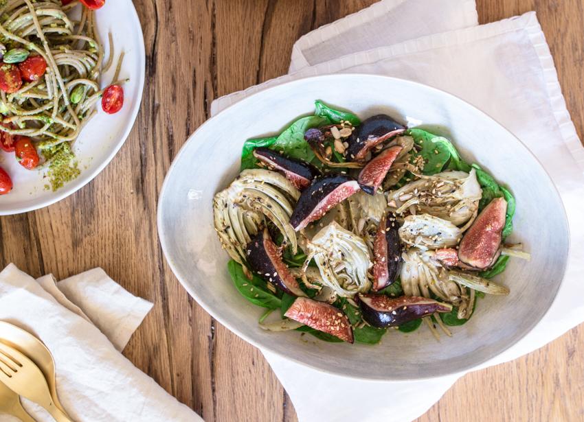 roasted fennel fig salad