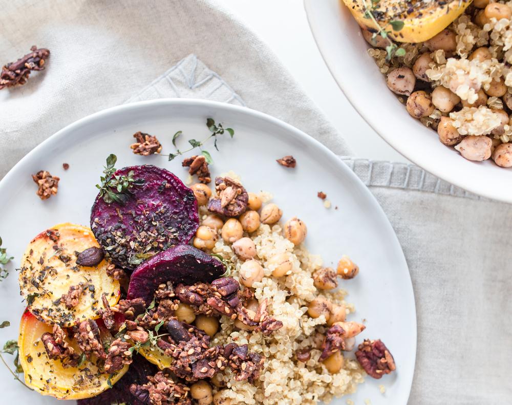 Randen aus dem Ofen mit Quinoa