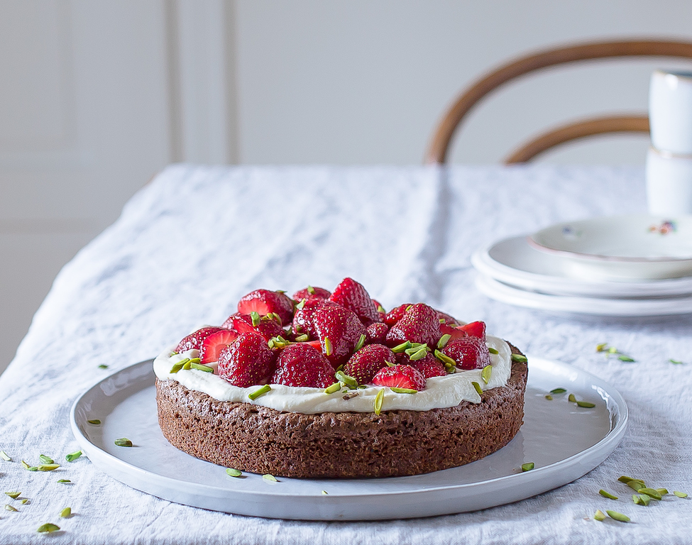 Schokolade_Kuchen_Erdbeeren