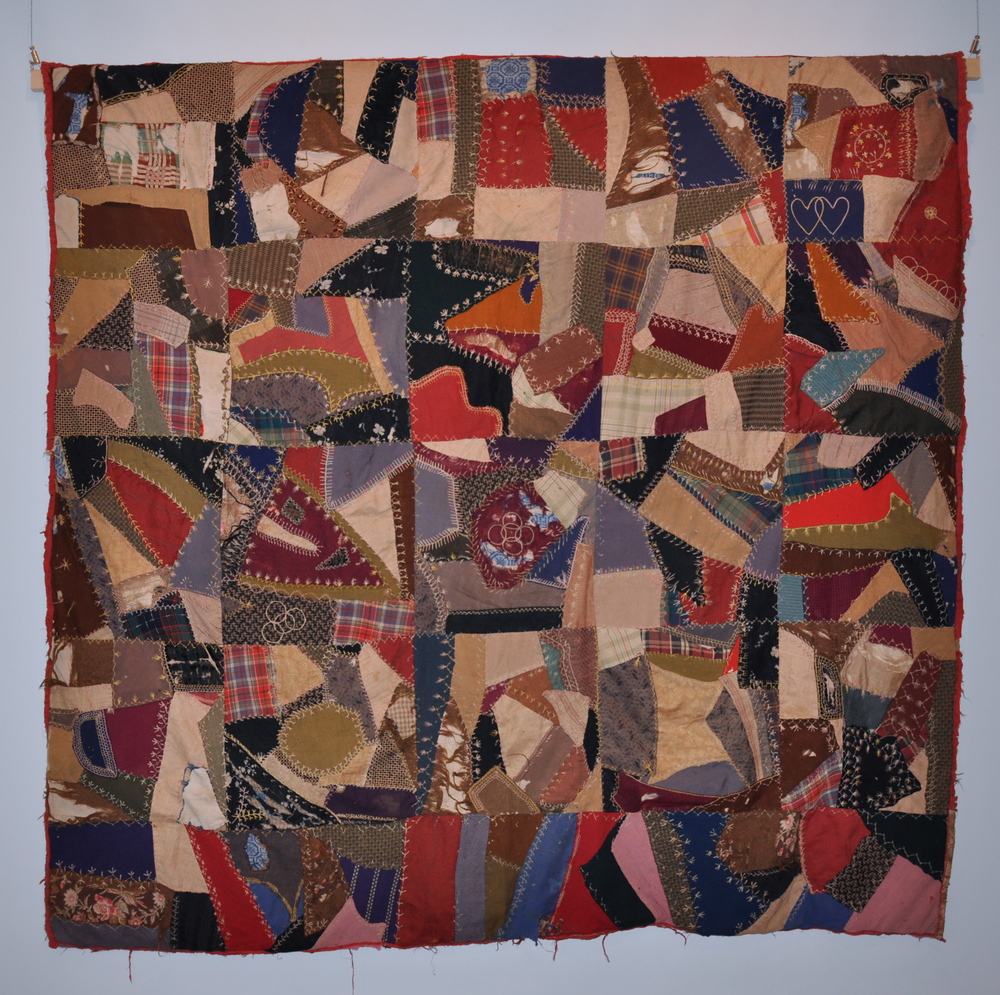 Crazy Quilt, c. 1900   Varied fabrics and embroidery thread    America Pratt Troutman