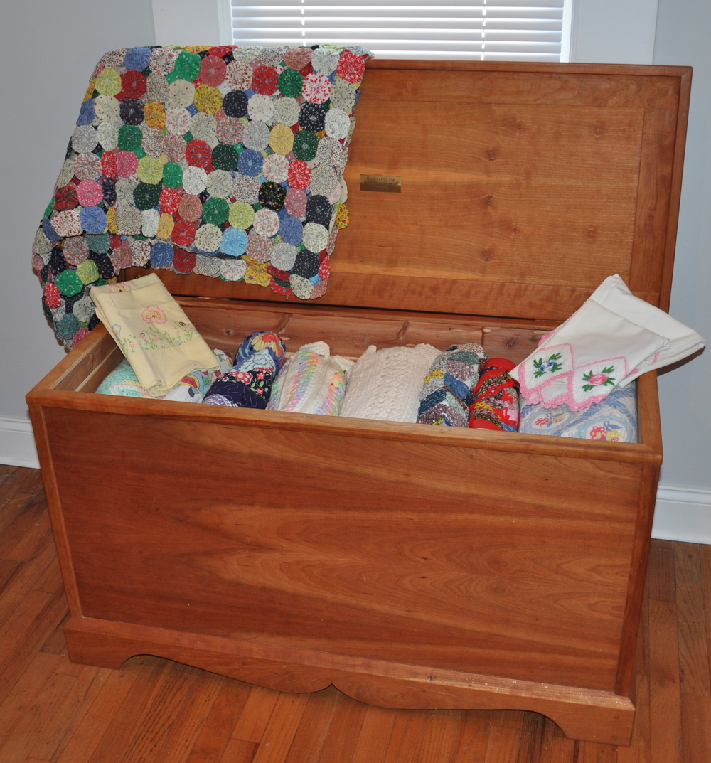 Hope Chest Solid cherry; cedar lined  Willard K Reed, Jr. M. Jason Knapp