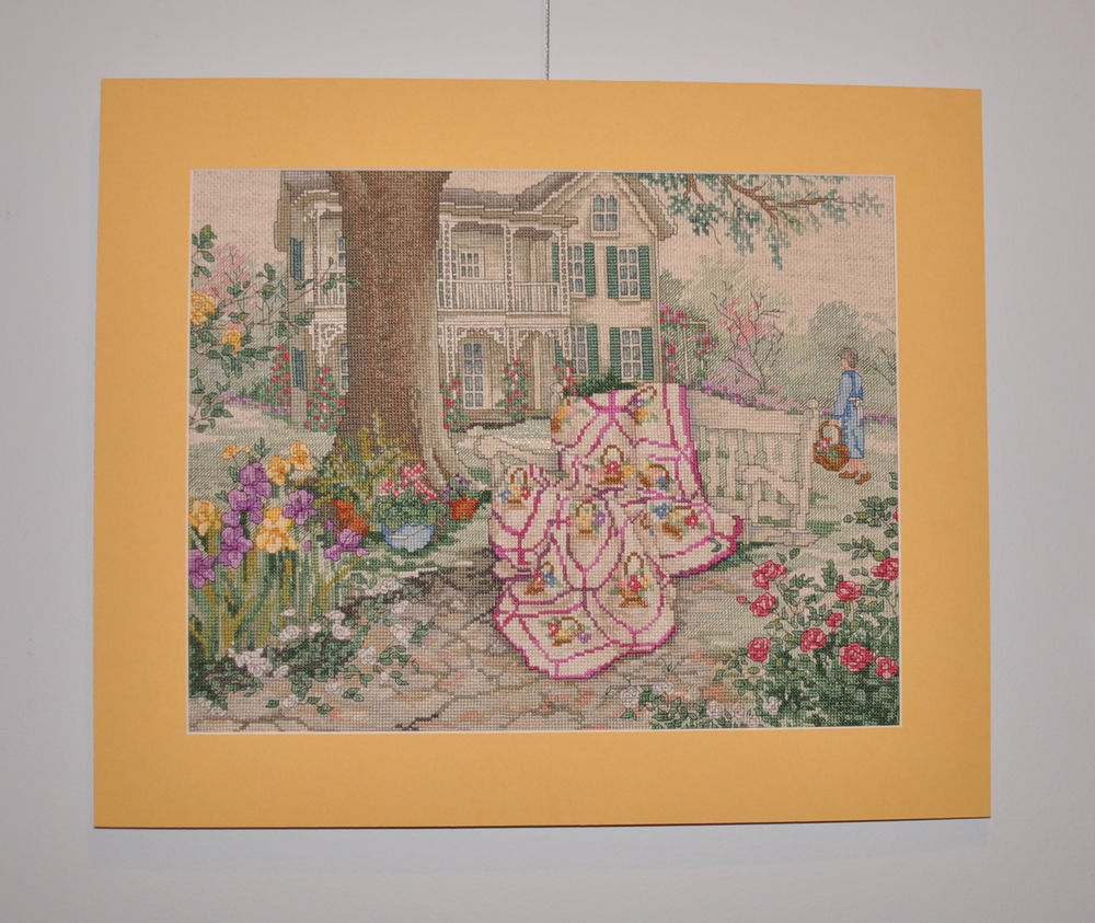 Cross Stitch   needlepoint fabric; embroidery floss    Linda L. Gunn