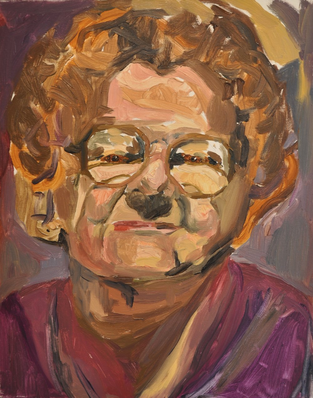"""Lillian""   oil on canvas  - Vanessa DeYoung"