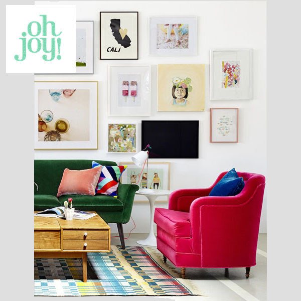 Oh Joy! Living Room Gallery Wall