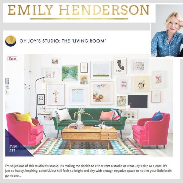 Emily Henderson - Oh Joy's Living Room