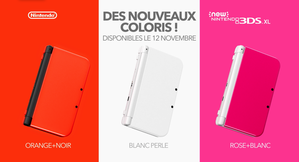 NEW NINTENDOD 3DS NEW COLOURS