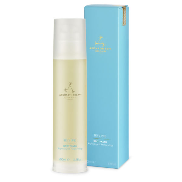 A morning rinse with Aromatherapy Associates Revive body wash will energize for hours.