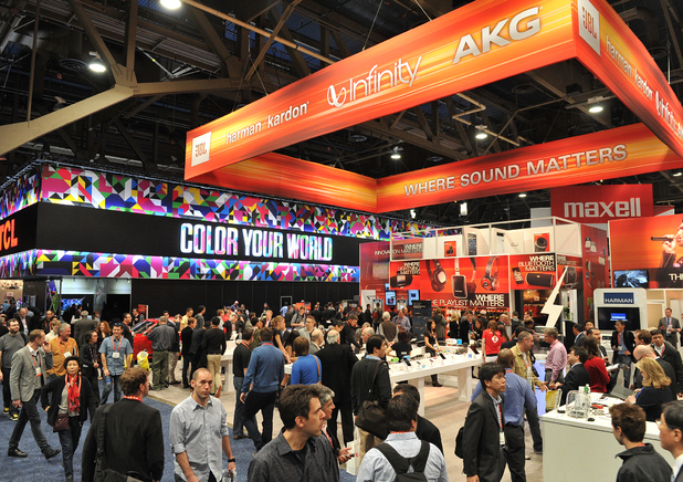 Booths hosted by rather more sensible companies at CES 2013