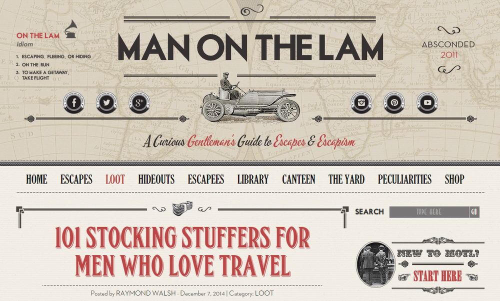 man on the lam stocking stuffers
