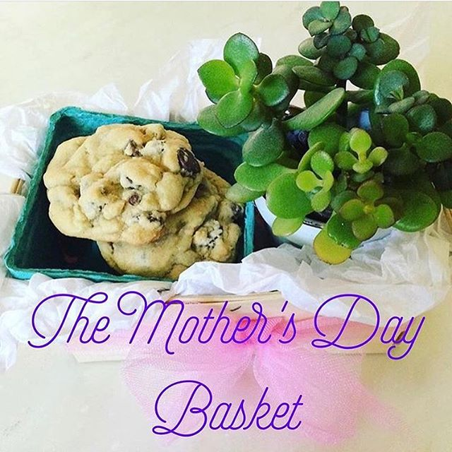 Mother's Day is this Sunday May 13th! The Cookie Cult has your Momma taken care of with The Mother's Day Basket! 1/2 dozen cookies, a small succulent, journal, candle and a card! Vegan and Gluten-Free cookies options available! #thecookiecult #MothersDay