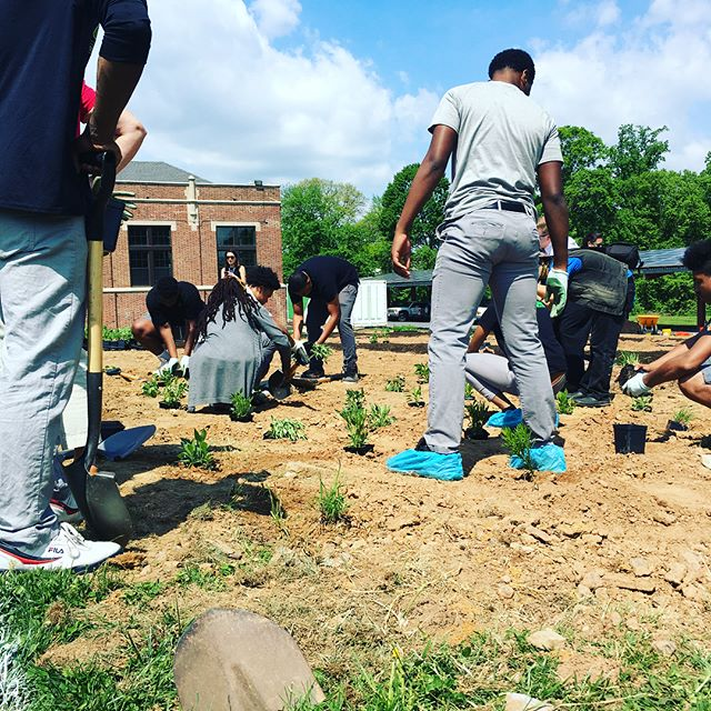 Exciting day 🌿@greenstreetacademy showcasing public private partnerships that promote Baltimore's green infrastructure . #nochildleftinside #gsafarms #pollinators #sustainable #bmoregreennetwork #ecosystem #urbanpastoral #verticalfarming