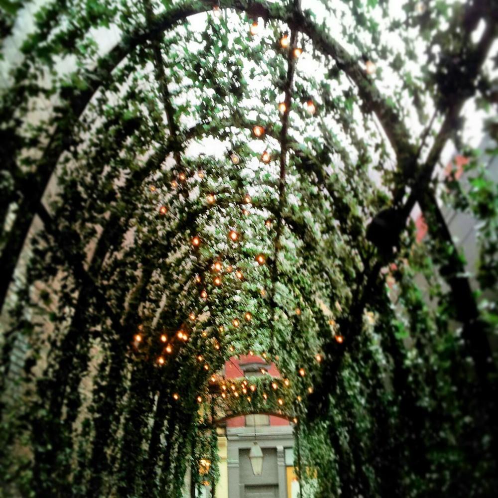 The entryway for the Mondrian Soho.