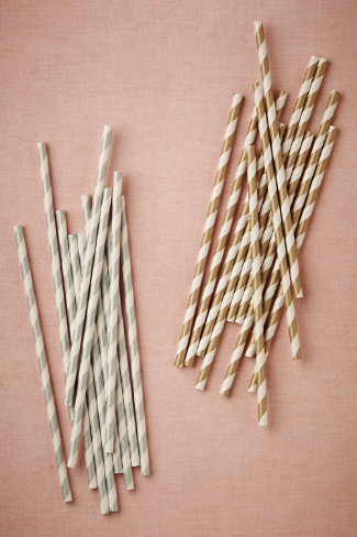 Metallic twirl straws, set of 25, $6 Bhldn.com