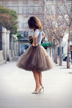 Tulle comes in all colors. She looks like a modern day princess!