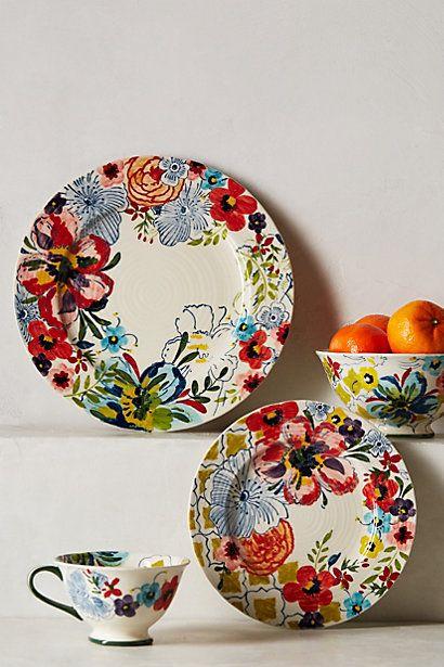 Sissinghurst Castle dinnerware @ Anthropologie.com