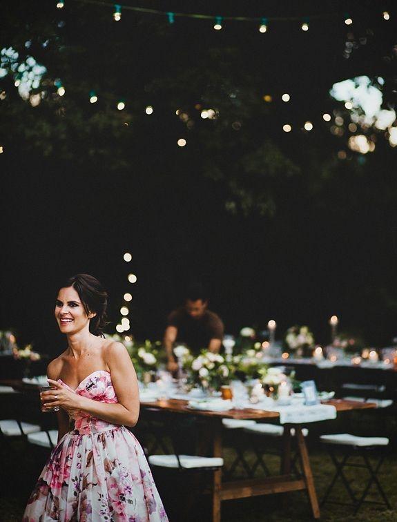 Floral wedding dress @ Weddingpartyapp.com
