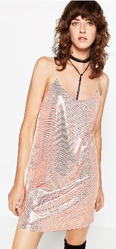 Sequinned Slip Dress