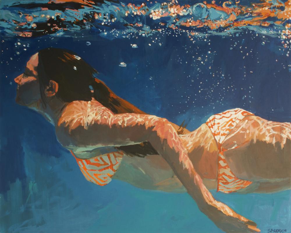 underwater painting people swimming - 1000×800