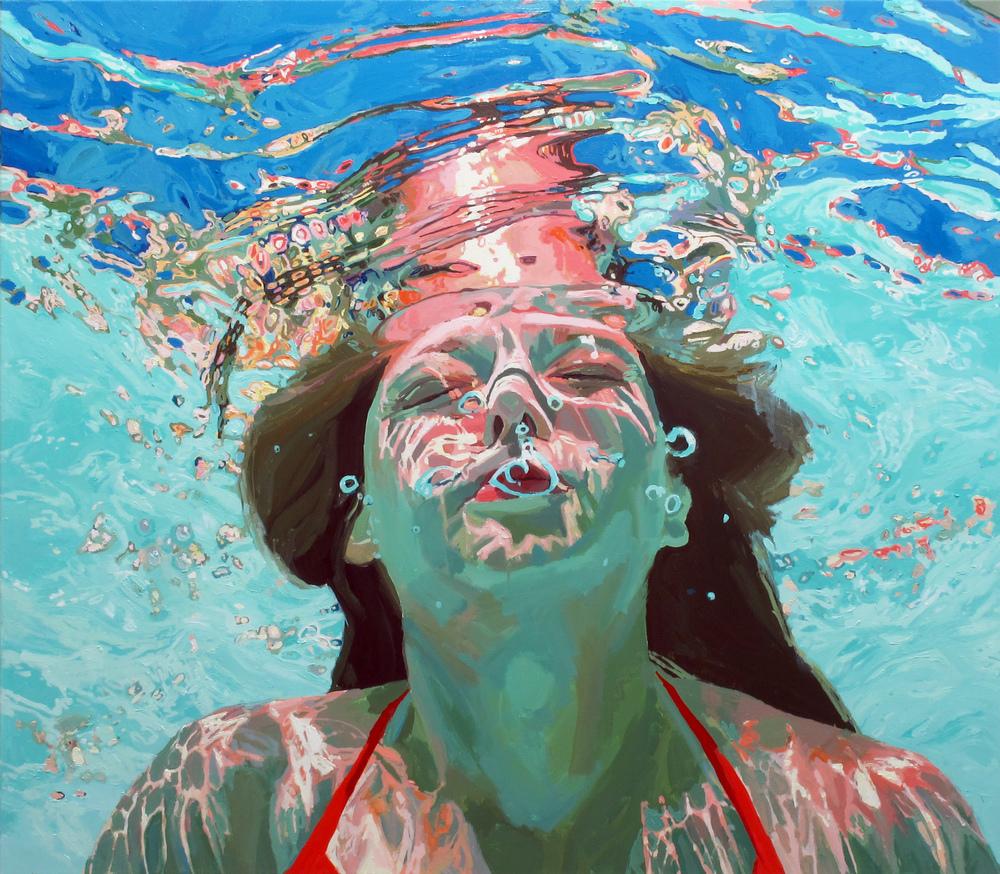 underwater painting people swimming - 980×857