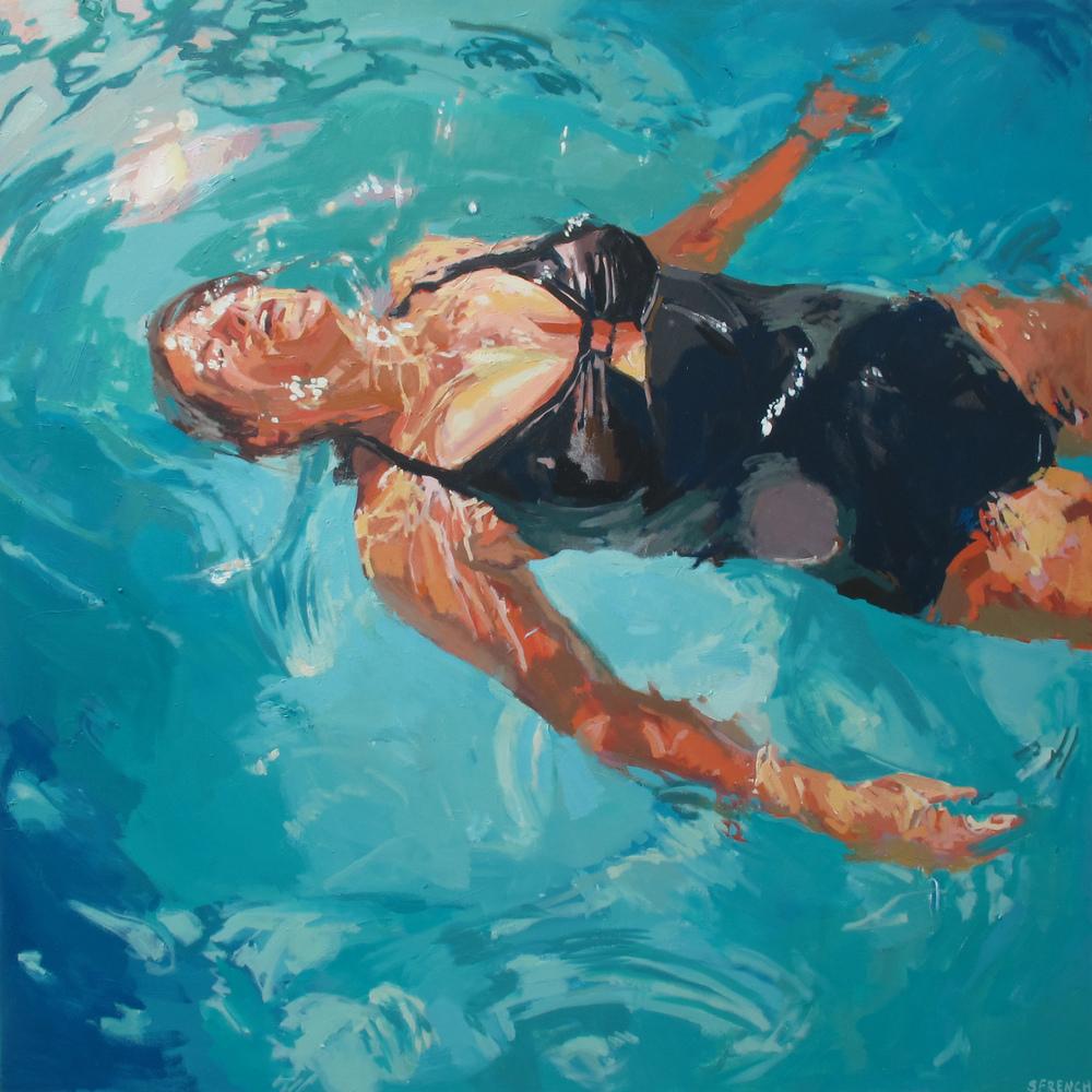 underwater painting people swimming - 650×650