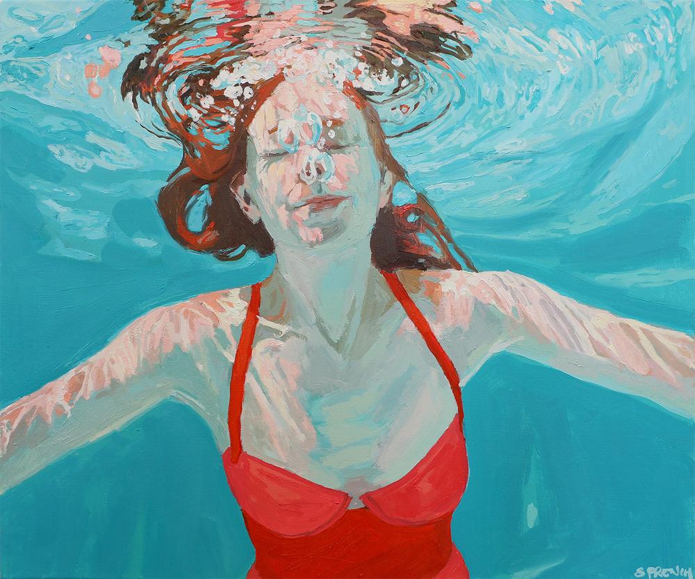 underwater painting people swimming - 1000×834