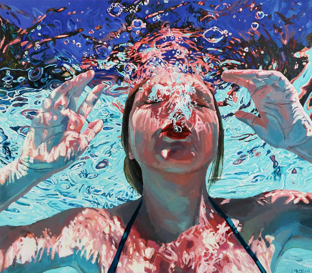 underwater painting people swimming - 883×774