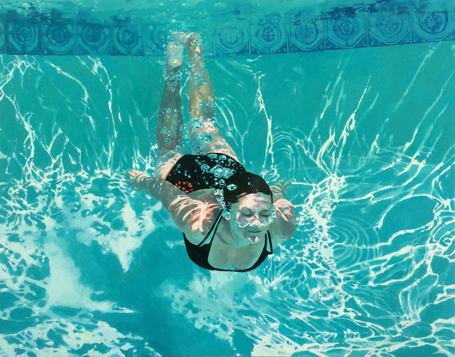 Drawing Swimming Pools : Amazing painting by samantha french artpeople