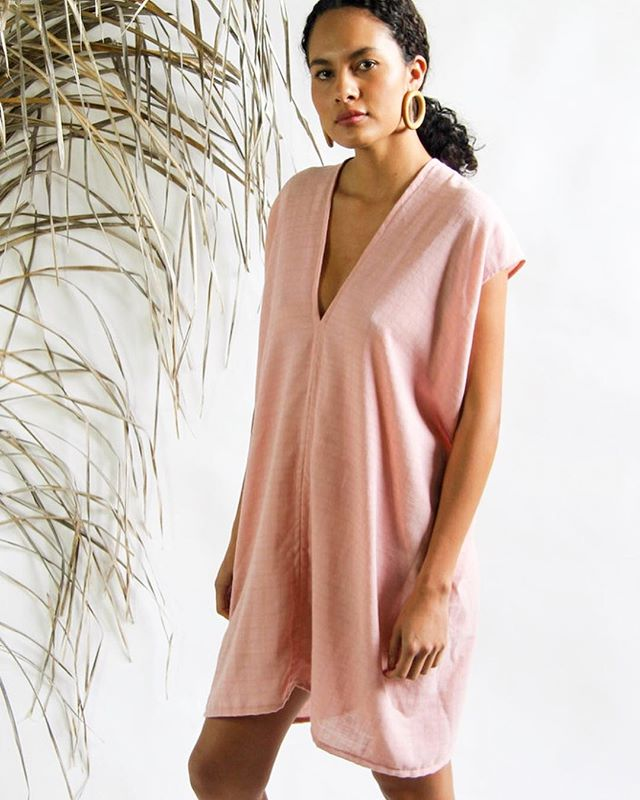 Shop update!  Some new woven pieces are up along with this dreamy blush day dress made in a textured salvaged cotton, just enough for one 💓link in profile