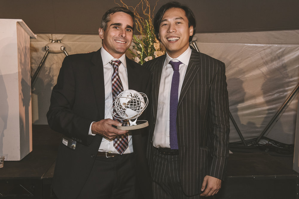 Honoree Bill Murphy, Senior Managing Director & CTO at Blackstone, with C4Q Co-founder, Jukay Hsu