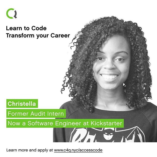From an audit intern to software engineer at @Kickstarter. Learn to code and transform your career with #accesscode. ➡️ Link in bio! -- #diversityintech #c4qnyc #queenstech #womenintech