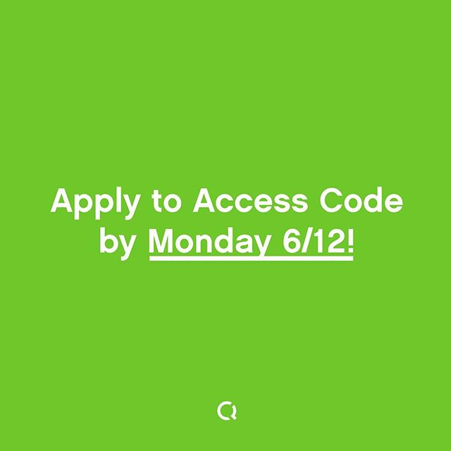 Applications for Access Code close on Monday! Tag your friends, learn more and apply today: link in bio! -- #diversityintech #womenintech #accesscode