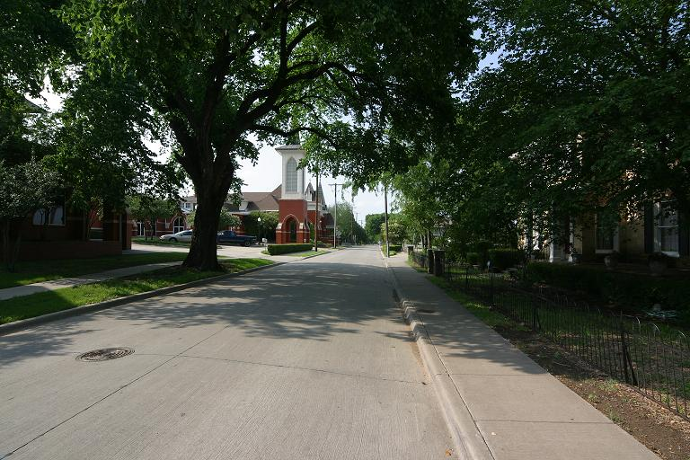 Church Street in McKinney, Texas.
