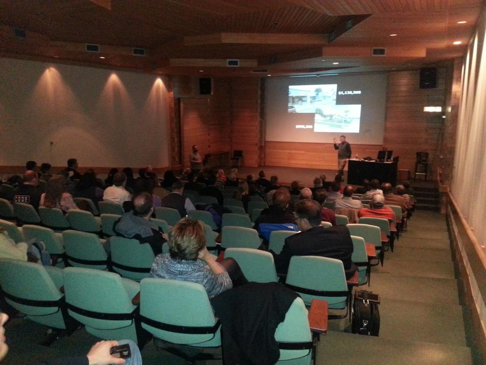 Chuck Marohn presenting his Curbside Chat at UTA