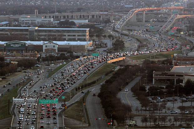 Traffic on Dallas North Tollway