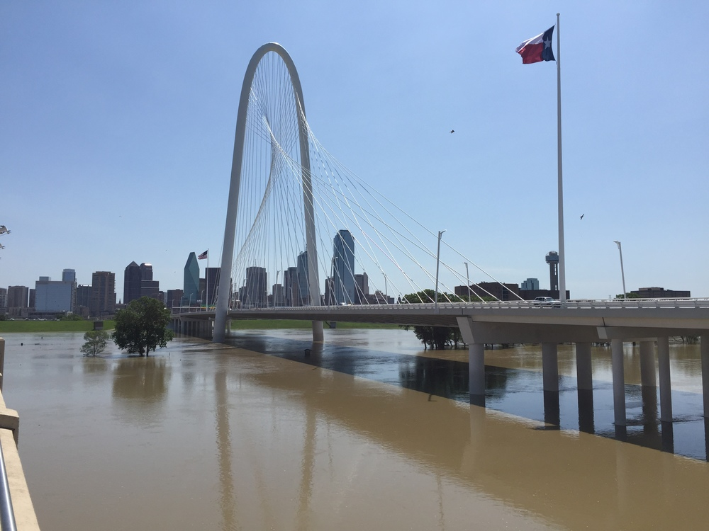 Trinity River at Margaret Hunt Hill Bridge on Wednesday, May 27, 2015