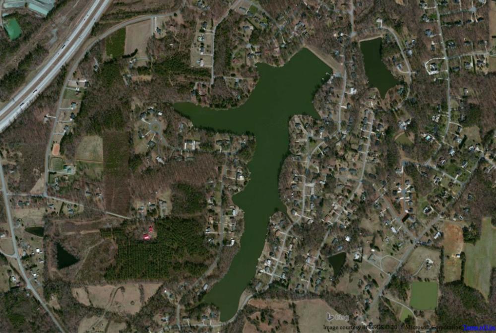Lynwood Lake in Greensboro, North Carolina
