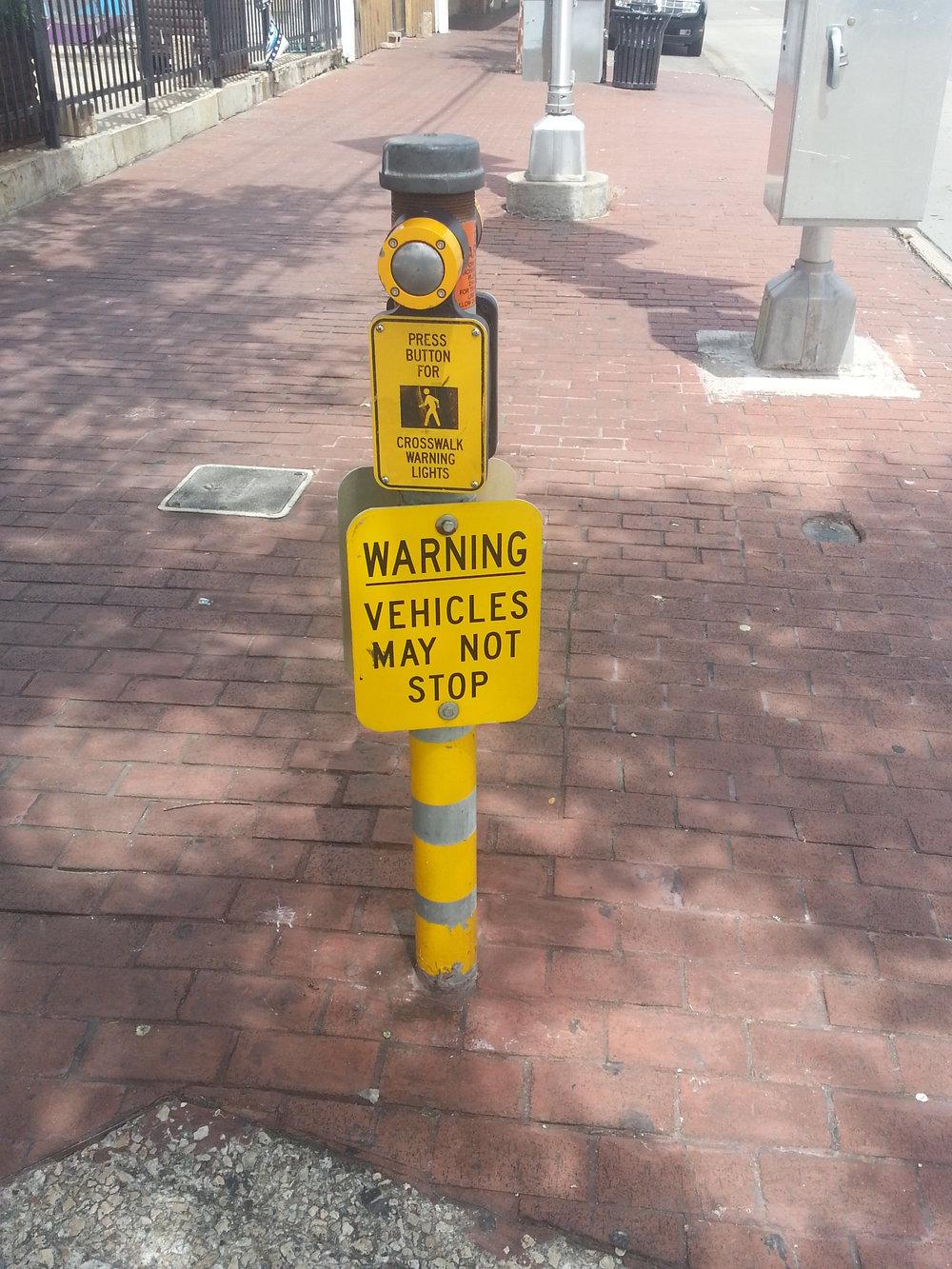 vehicles may not stop