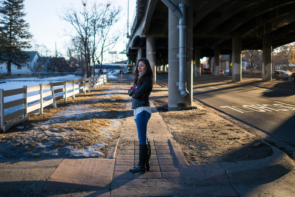 """We shouldn't be the people carrying the city on our backs."" A highway that ripped through a thriving Denver neighborhood in the 1960s is slated for expansion. (Photo: Nick Cote, New York Times)"