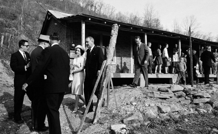President Lyndon Johnson in Kentucky in 1964 on a trip to see the conditions of America's poor. (Photo: AP)
